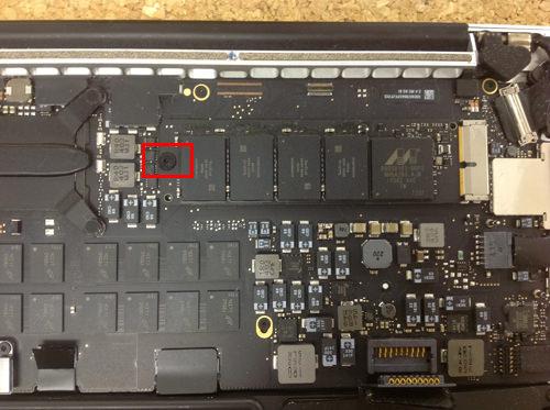 MacbookProRetina A1502 SSD交換方法5