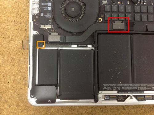 MacbookProRetina A1502 スピーカー交換方法5