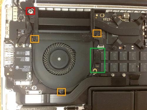 MacbookProRetina A1502 FAN交換方法3
