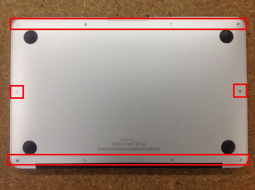 MacbookAir A1370 バッテリー交換 方法1