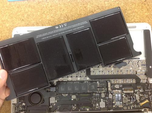 MacbookAir A1370 バッテリー交換 方法6
