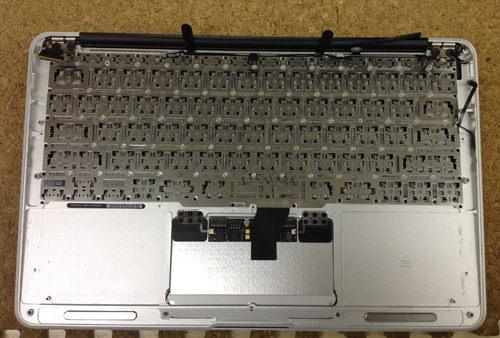 MacbookAir A1370 キーボード交換 方法3