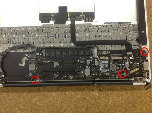 MacbookAir A1370 ロジックボード交換 方法19