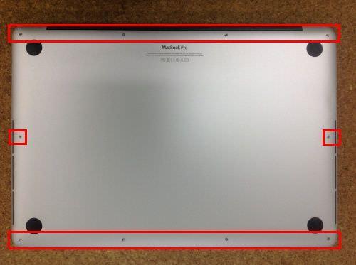 Macbook Pro Retina A1398 キーボード交換方法1