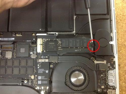 Macbook Pro Retina A1398 SSD交換方法5