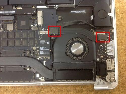 Macbook Pro Retina A1398 ロジックボード交換方法5