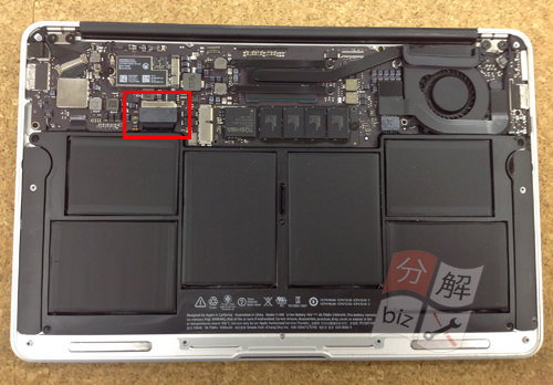 Macbook Air A1465(11インチ) キーボード交換方法3