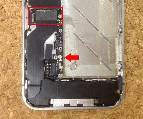 iPhone4s 液晶ガラス、パネル交換方法7