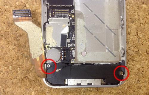 iPhone4s 液晶ガラス、パネル交換方法8