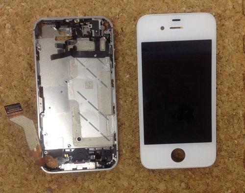 iPhone4s 液晶ガラス、パネル交換方法17