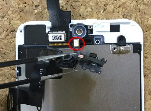 iPhoneSE フロントカメラ交換.分解方法6