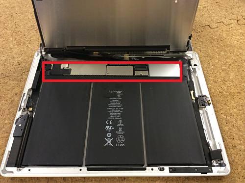 ipad retina バッテリー分解方法5