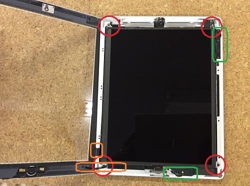 ipad retina液晶ガラス分解方法4