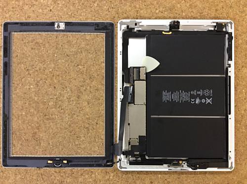 ipad retina液晶ガラス分解方法12