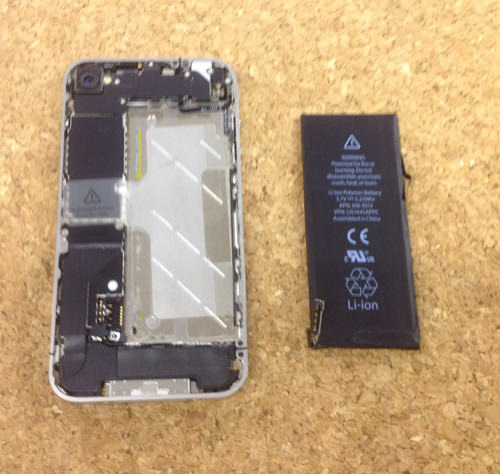 iphone4 液晶ガラス、パネル交換方法2