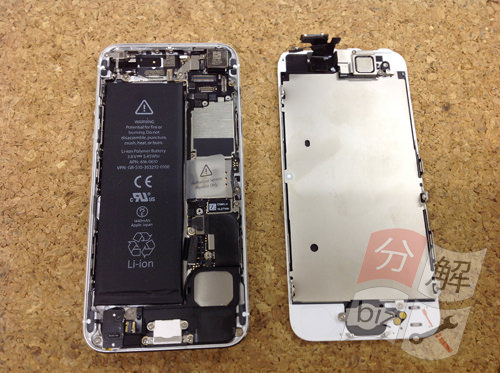 iphone5 ドックコネクター交換、イヤホン交換方法12
