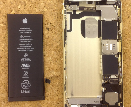 iphone6s バッテリー分解方法12