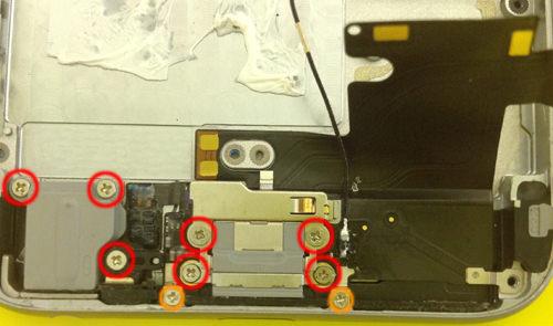 iphone6s  ドックコネクター・イヤホン交換分解方法3