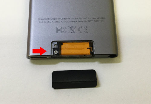 ipod nano 第7世代 分解3