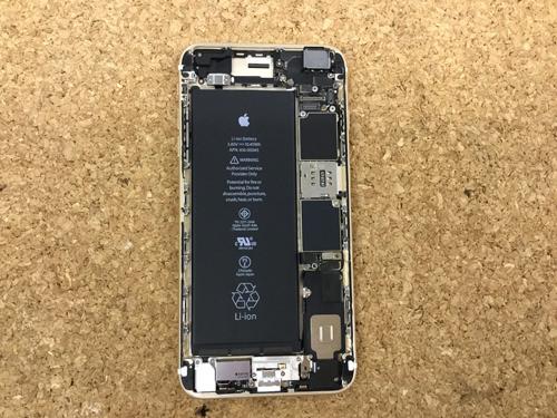 iPhone6sPlus ラウドスピーカー交換.分解方法2