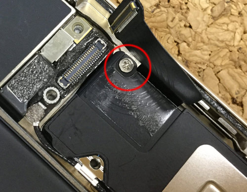 iPhone6sPlus ラウドスピーカー交換.分解方法5