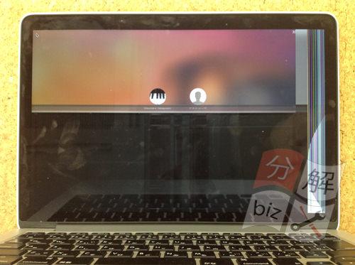 Macbook Pro Retina A1502 液晶交換方法1