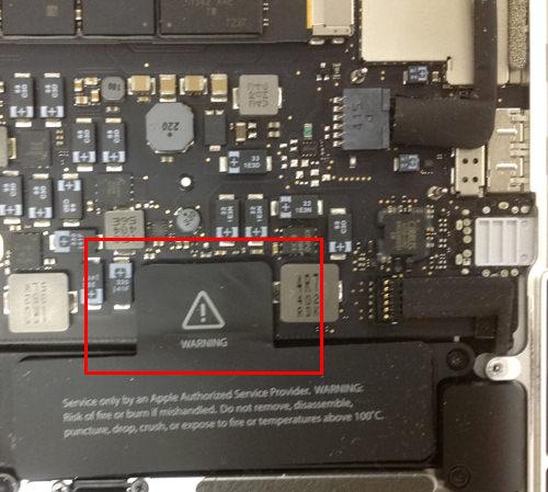 MacbookProRetina A1502 SSD交換方法2