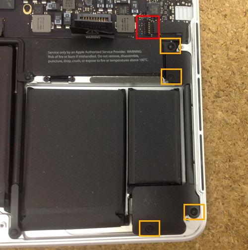 MacbookProRetina A1502 スピーカー交換方法3