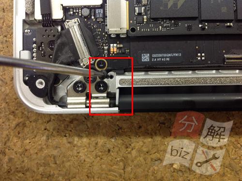 Macbook Pro Retina A1502 液晶交換方法7