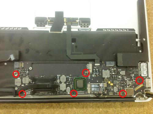 Macbook Air A1369(13インチ) ロジックボード交換方法17