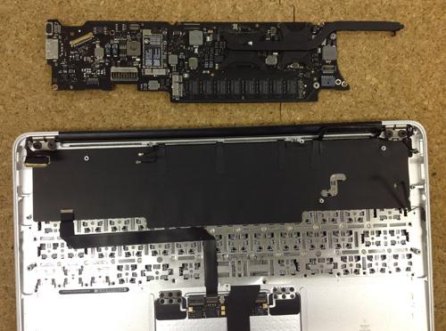 MacbookAir A1370 キーボード交換 方法2