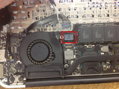 MacbookAir A1370 ロジックボード交換 方法11