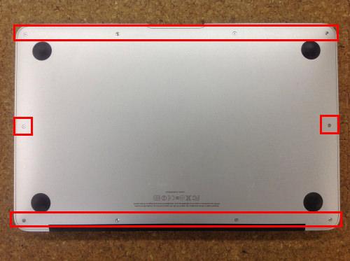 MacbookAir A1370 ロジックボード交換 方法1