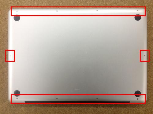 MacbookProA1286 FAN交換方法1