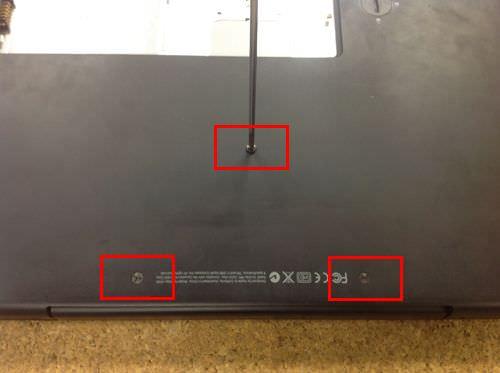 macbook A1181 キーボード交換方法3
