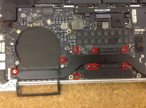 Macbook Pro Retina A1398 ロジックボード交換方法20