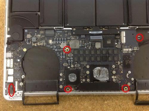 Macbook Pro Retina A1398 ロジックボード交換方法23