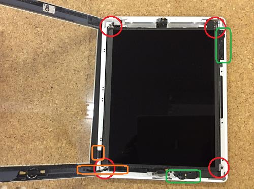 ipad retina バッテリー分解方法4