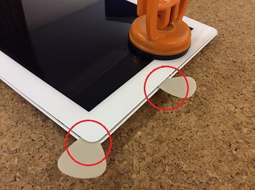 ipad retina液晶ガラス分解方法3