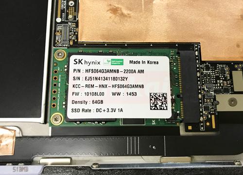 Surface Pro 3 SSD交換